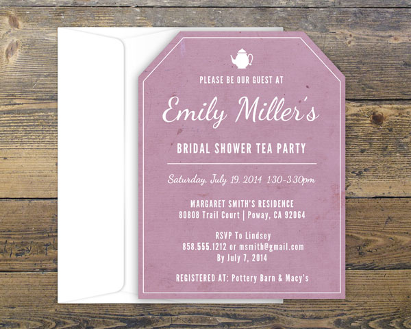 Custom Designed Bridal Shower Invitation Lindsey Gruter