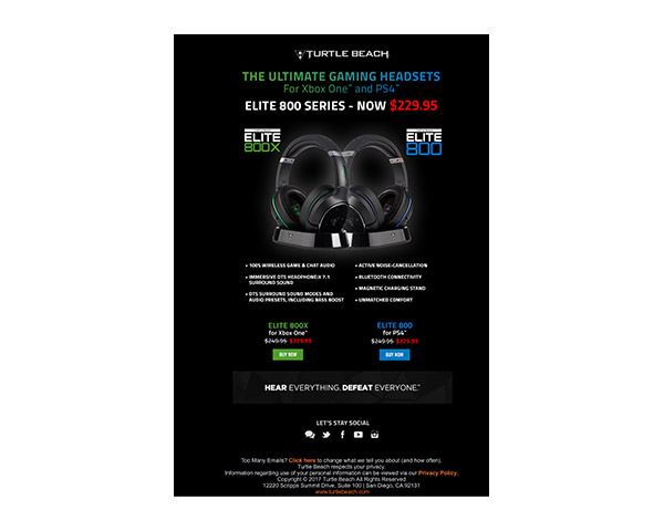 turtle beach email campaign