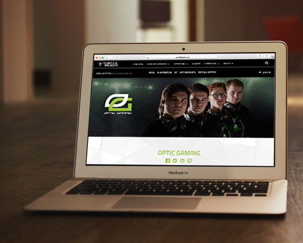 Team Optic Gaming webpage design